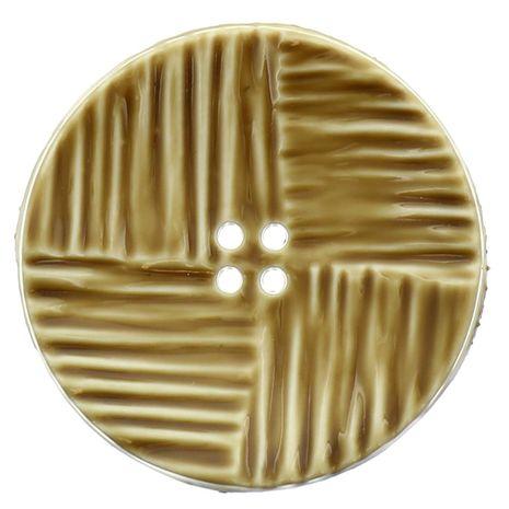 Bouton 4 trous - Plastique beige
