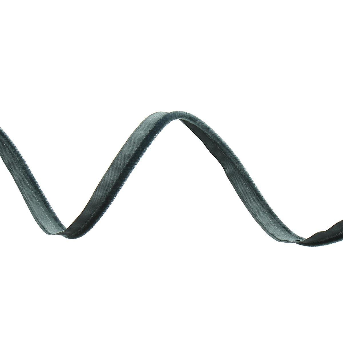 Passepoil, dépassant velours - Gris anthracite