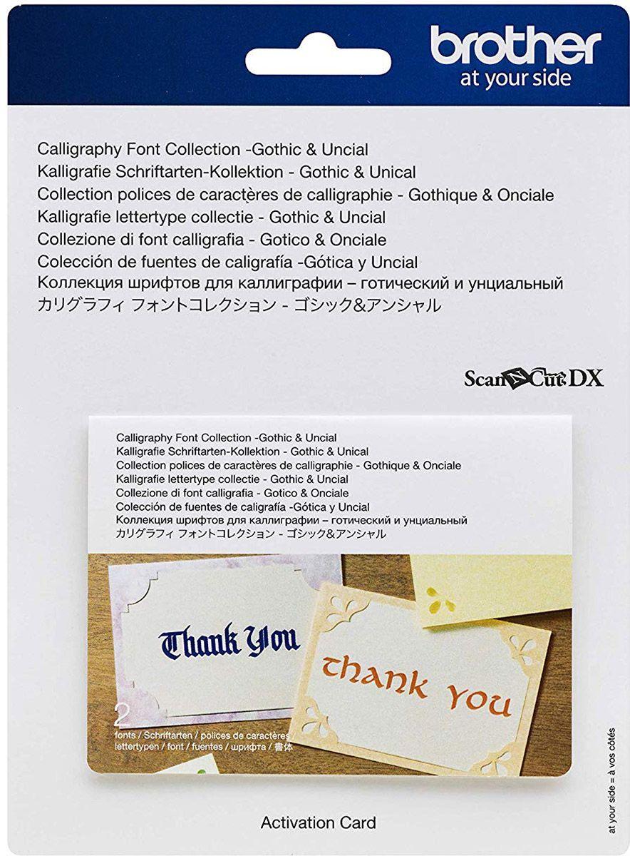 Collection polices de caractères de calligraphie - Gothique et Onciale ScanNCut