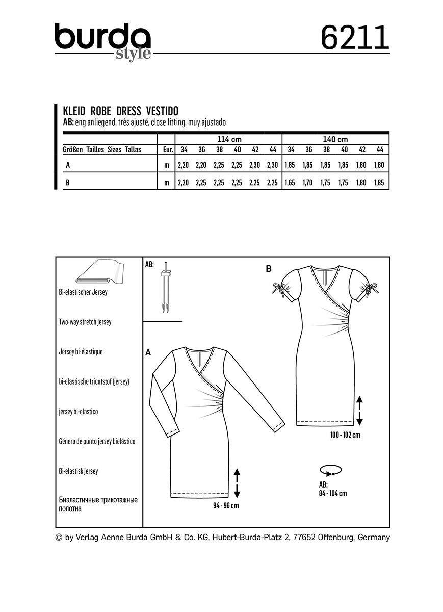 Patron de robe - Burda 6211
