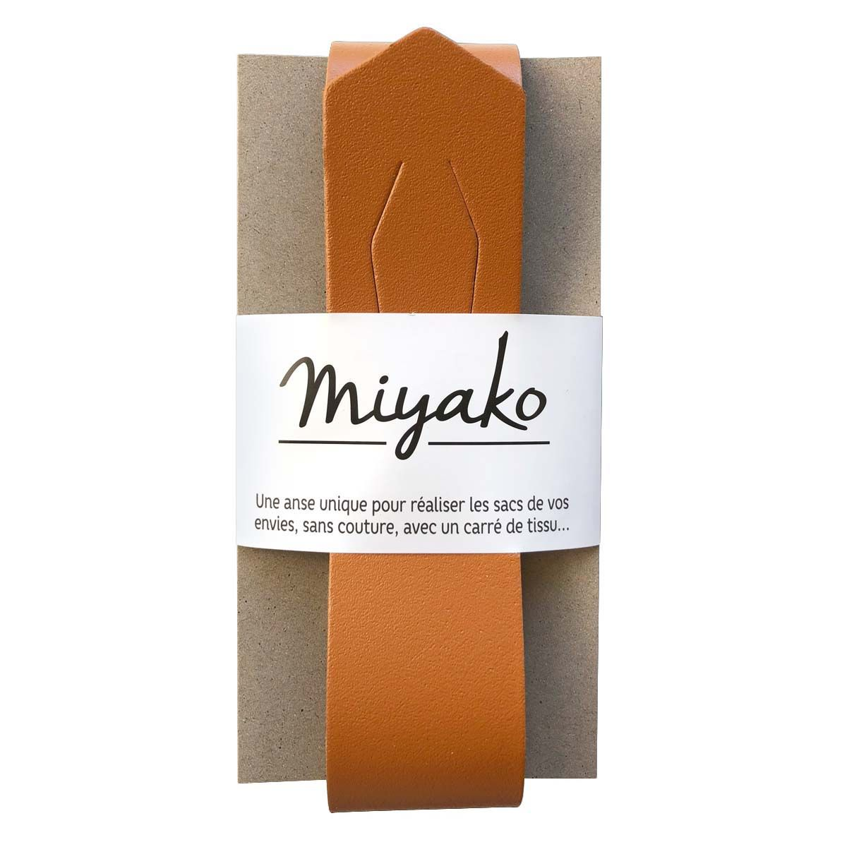 Anse en cuir Miyako - Camel