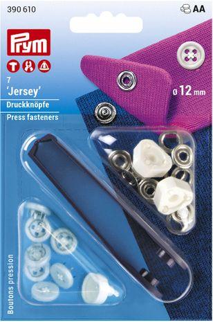 Boutons pression jersey blanc aspect boutons de chemises avec outil 12 mm