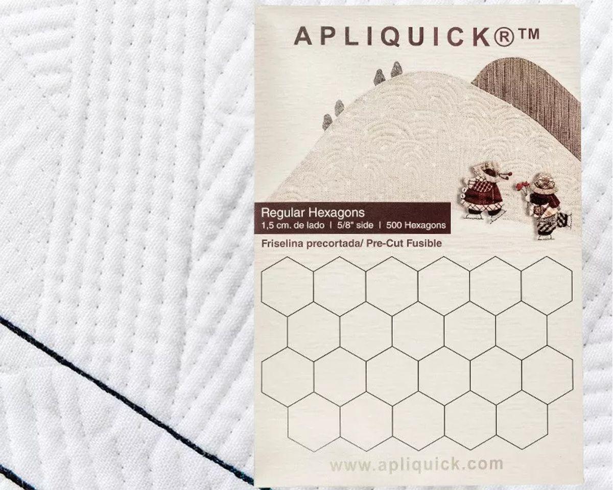 Gabarits hexagones Apliquick - 1,5 cm