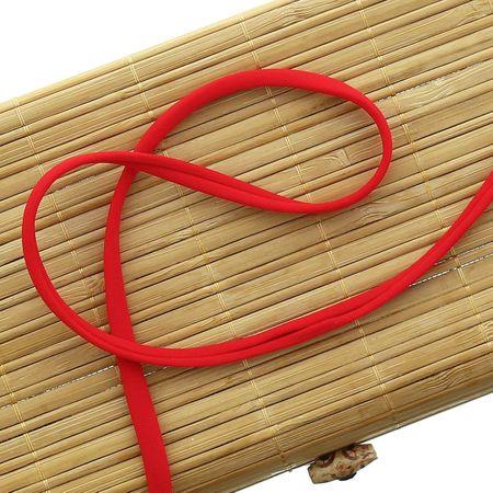 Cordon spaghetti lycra 5 mm - Rouge