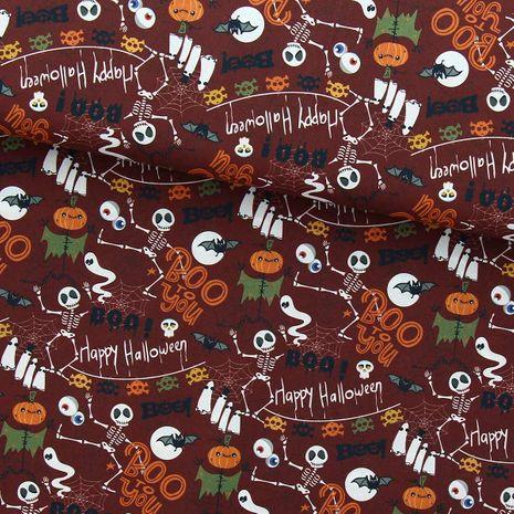 Tissu popeline de coton BIO - Happy halloween