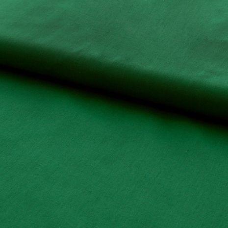 Tissu popeline de coton BIO - Vert herbe