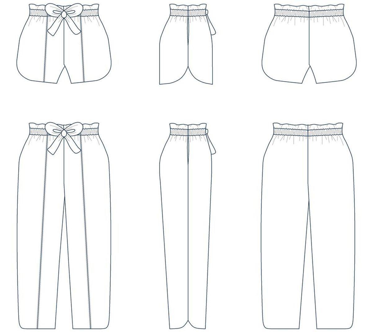 Patron de short et pantalon Phoenix - Les Lubies de Cadia