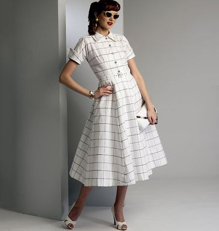 Patron de robe et ceinture - Vogue 9000