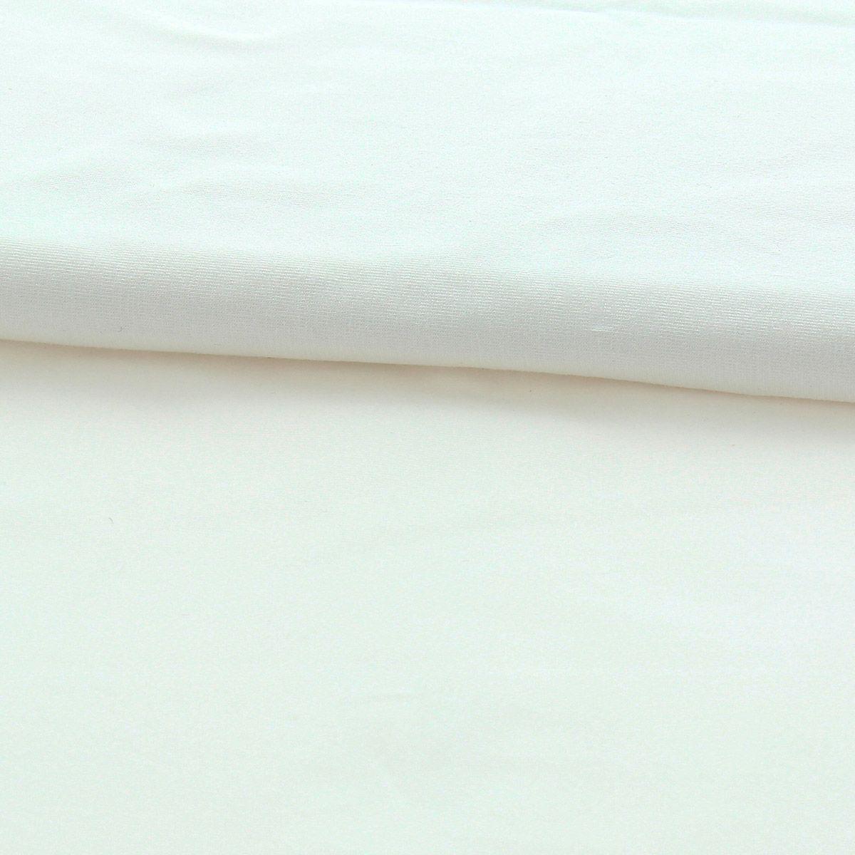 Tissu jersey coton BIO - Ecru