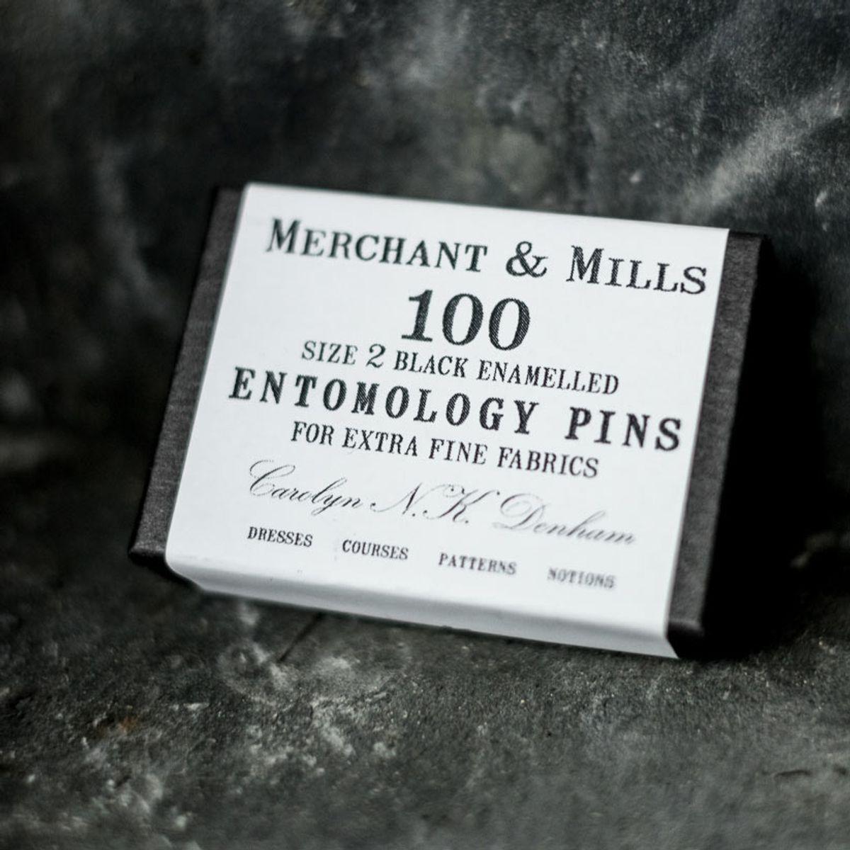 Boite de 100 épingles ultra-fines black Merchant & Mills