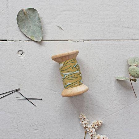 Passepoil gaze de coton Petal Mustard au mètre - Atelier Brunette