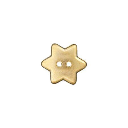 Bouton étoile 2 trous or