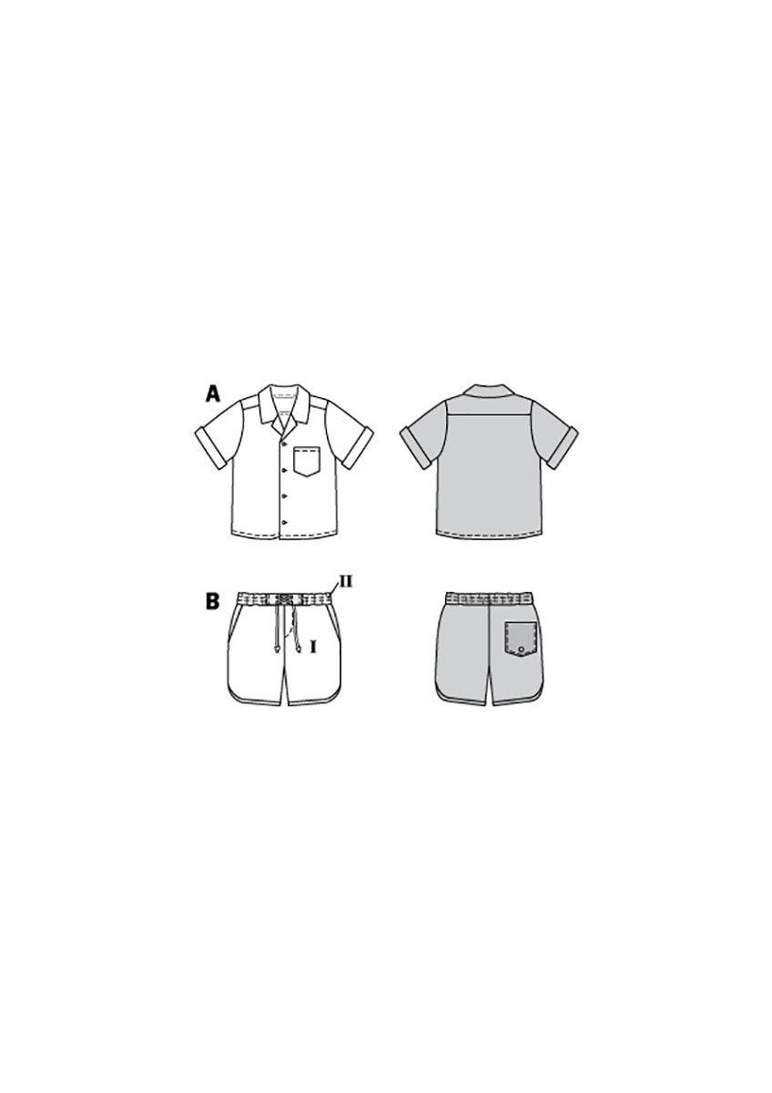 Patron de chemise et short - Burda 9285