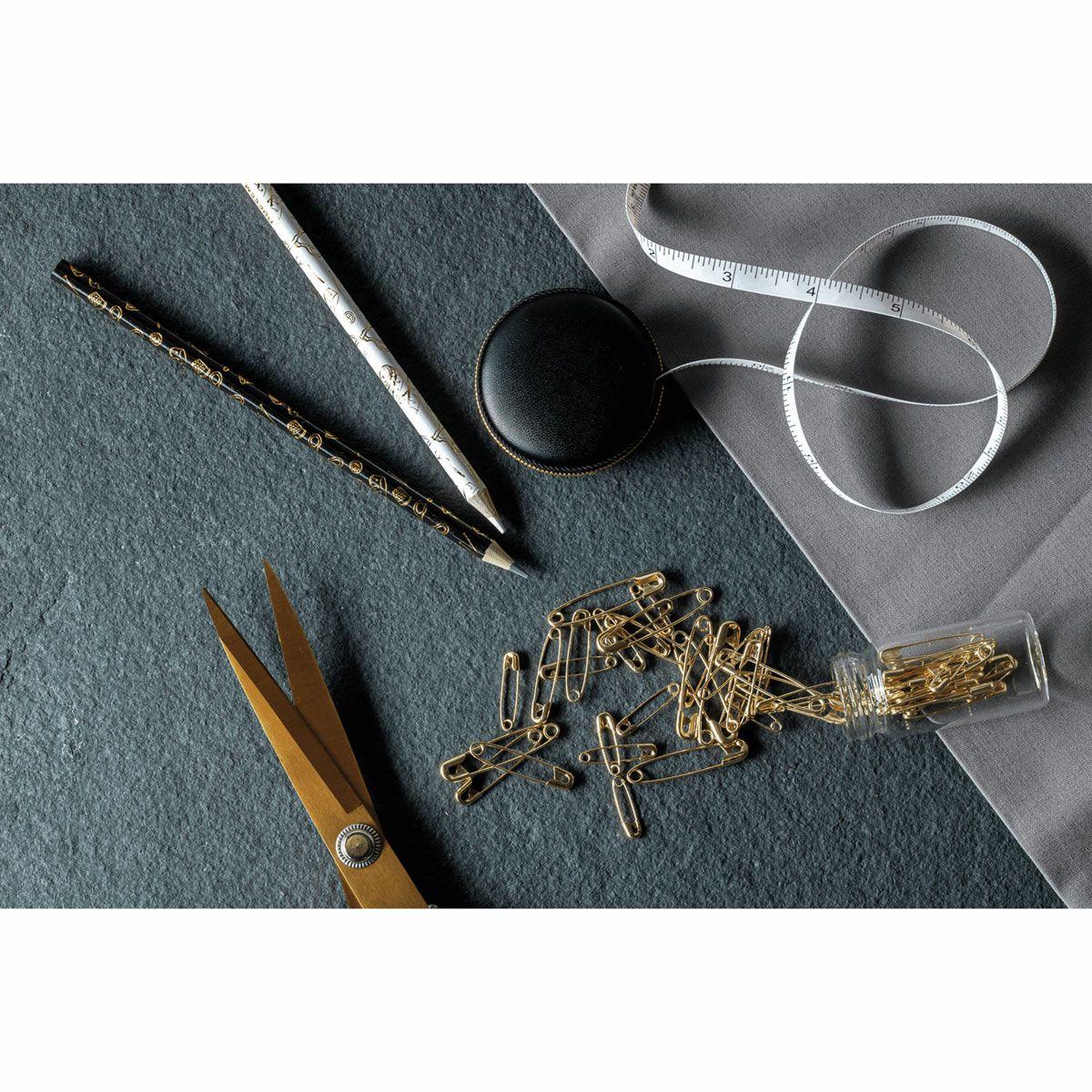 Centimètre de couture rétractable 150 cm noir