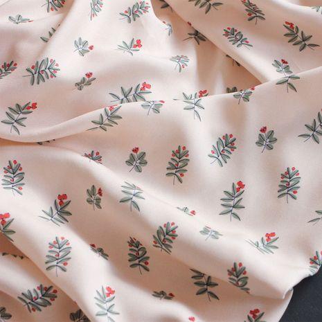 Tissu twill de viscose Winter Berries - Lise Tailor