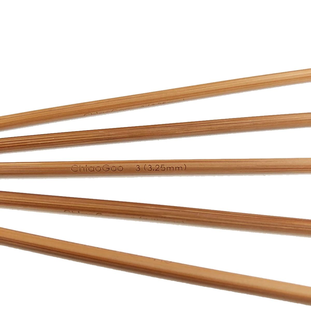 Aiguilles double pointes bambou ChiaoGoo