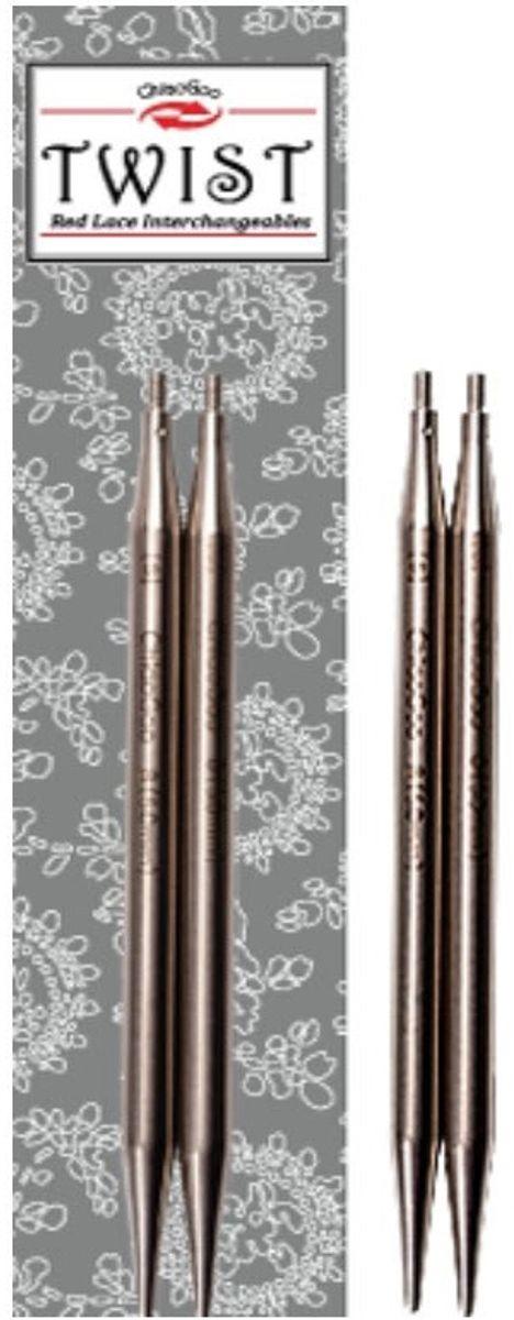Pointes d´aiguilles métal 10 cm Twist Red Lace ChiaoGoo