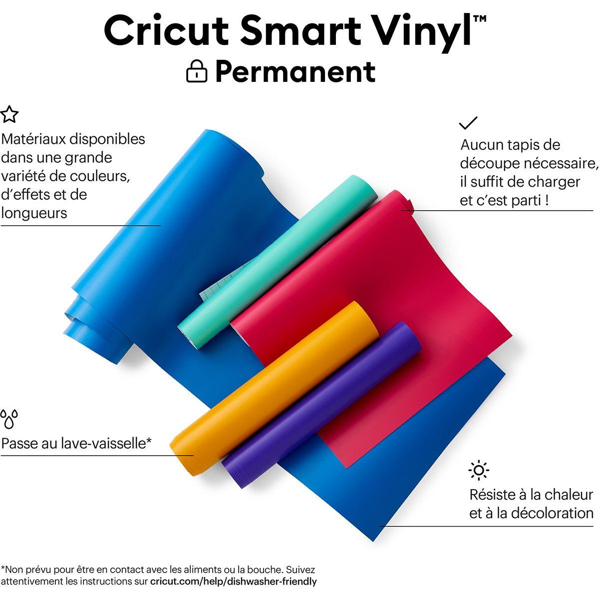 Film vinyle permanent 33 cm x 366 cm Cricut