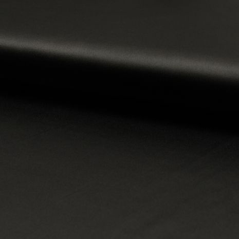 Tissu satin extensible - Noir