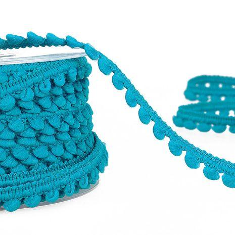 Galon mini pompons - Bleu turquoise