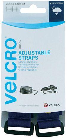 VELCRO® Brand Sangle ajustable 25mm x 92cm x 2 Bleu