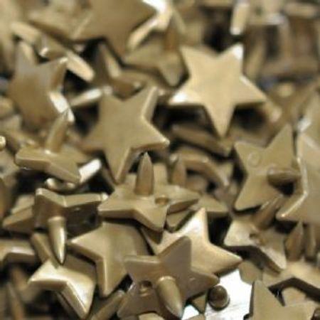 Sachet de 25 pressions résine étoiles - Bronze