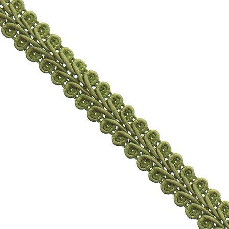 Galon épi style Chanel - Vert olive