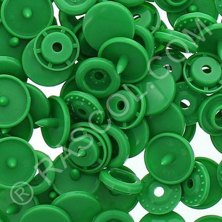 Sachet de 25 pressions résine KAM ronds - Vert
