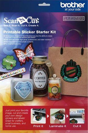 Kit de démarrage pour autocollants imprimables ScanNCut