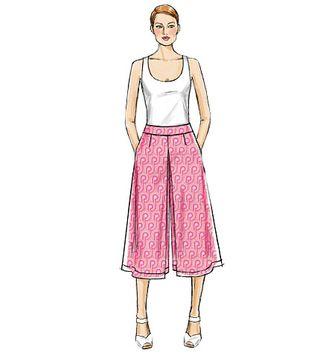 patron de jupe culotte et pantalon vogue 9091 rascol. Black Bedroom Furniture Sets. Home Design Ideas