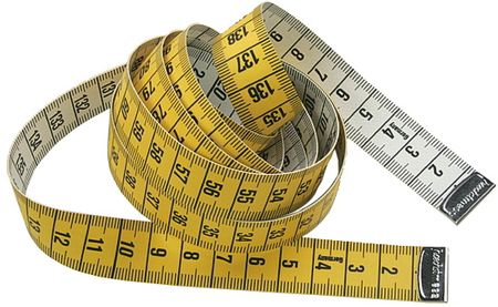 Mètre ruban couture jaune 150 cm