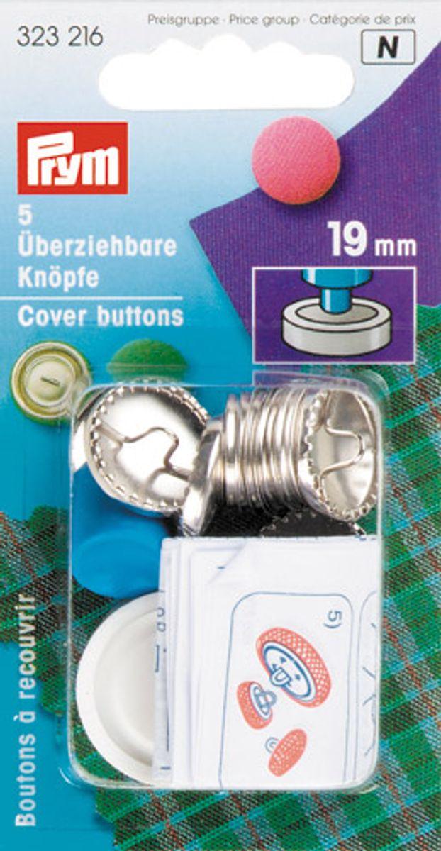 Boite 5 boutons à recouvrir avec outil 19 mm