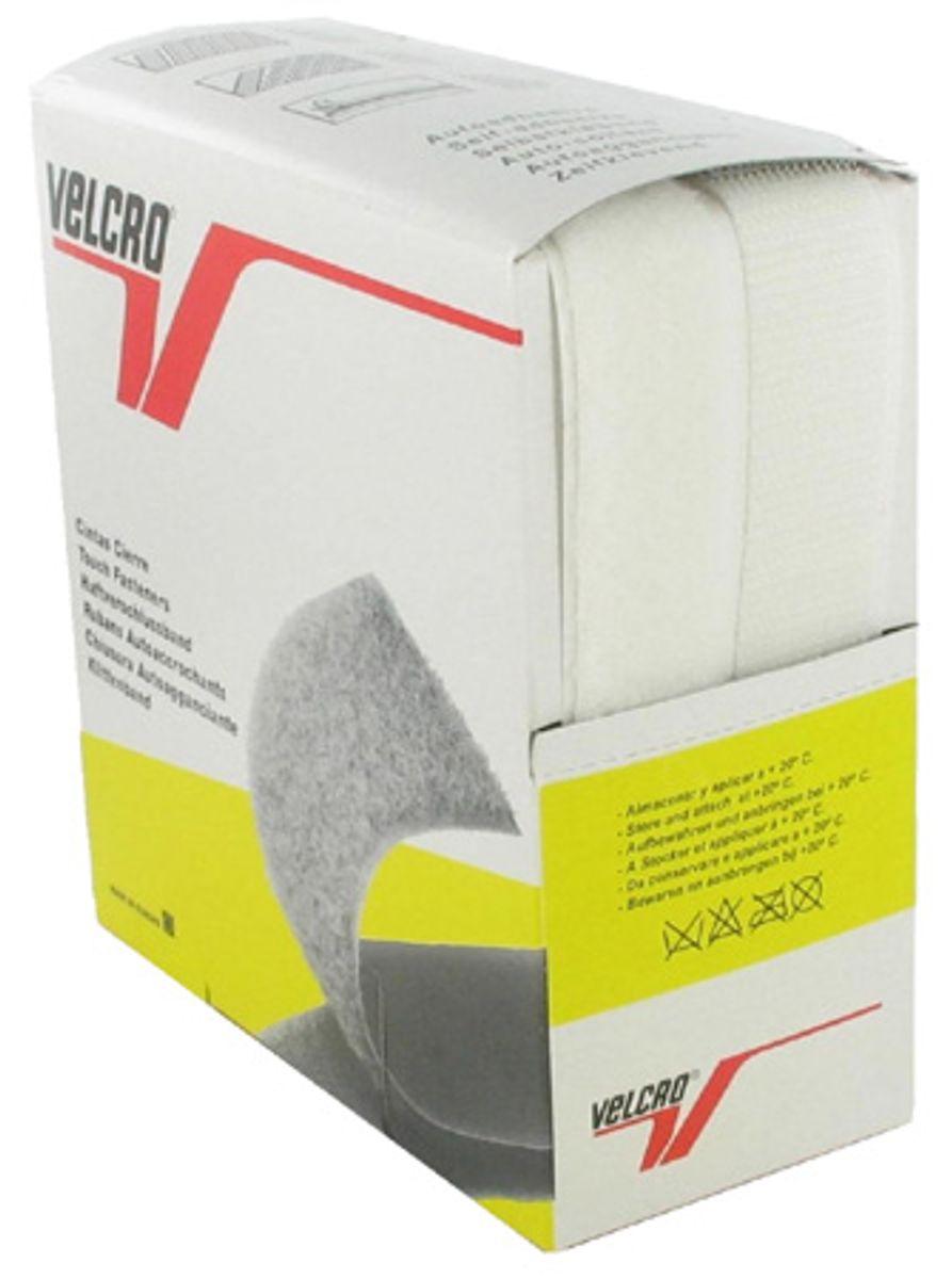VELCRO® Brand adhésif blanc 20 mm de large boite de 5 mètres
