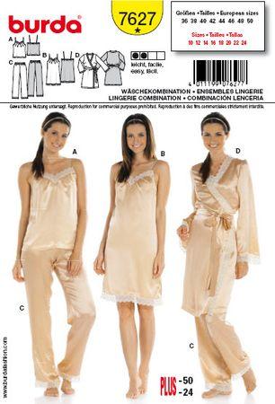 Patron de combinaison lingerie - Burda 7627