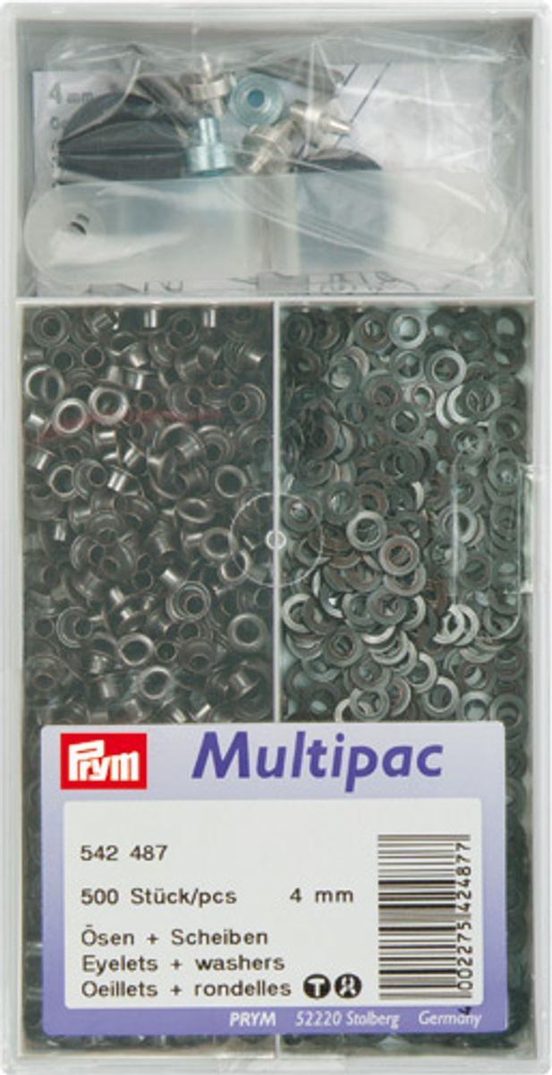 Multipac de 500 oeillets 4mm - Noir