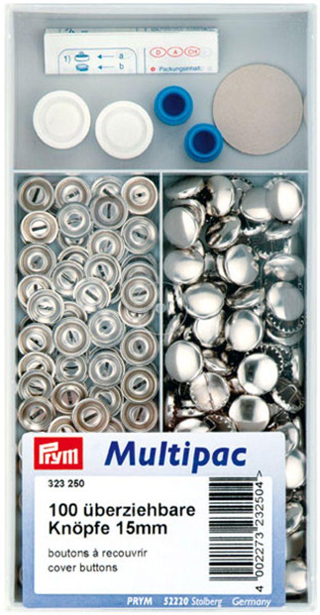Multipac de 100 boutons à recouvrir - 15mm