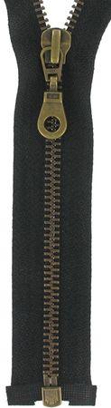 Fermeture éclair séparable métal - Noir maille bronze