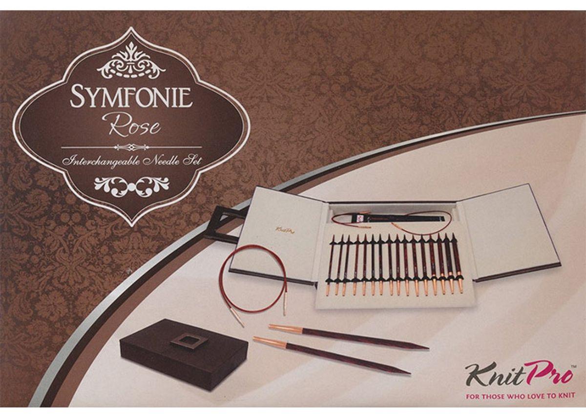 Coffret aiguilles à tricoter circulaires KnitPro Symfonie Rose