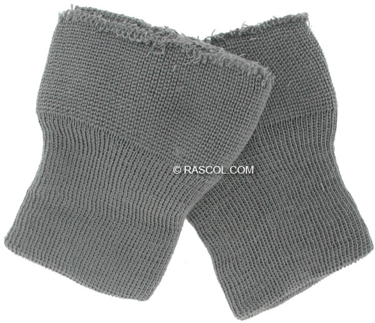 Lot de 2 poignets tricotés - Gris