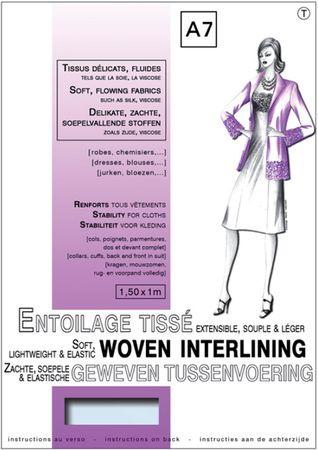 Entoilage tissé thermocollant extensible - Tissus délicats & Fluides