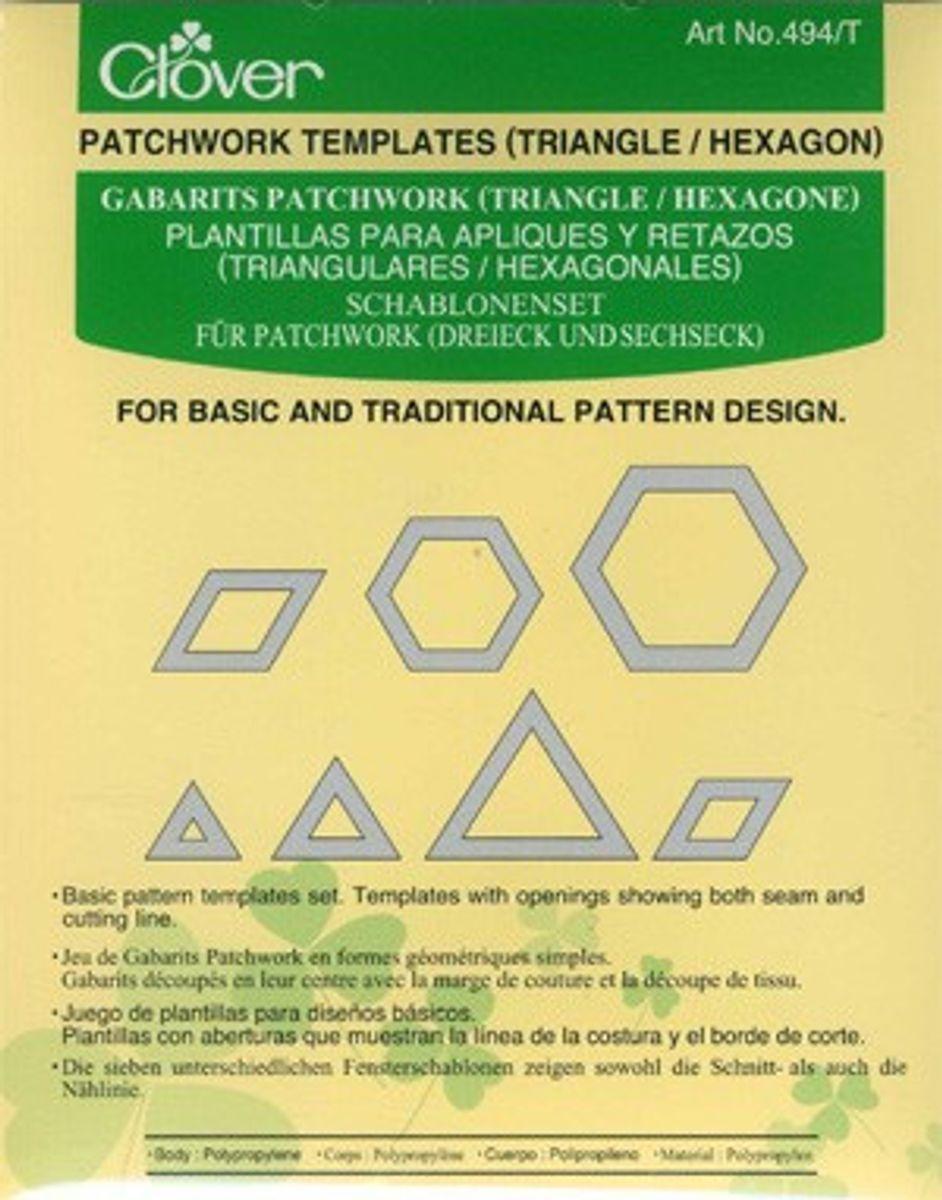 Gabarits patchwork - Triangle et Hexagone