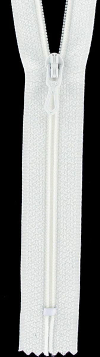 Fermeture éclair nylon - Blanc