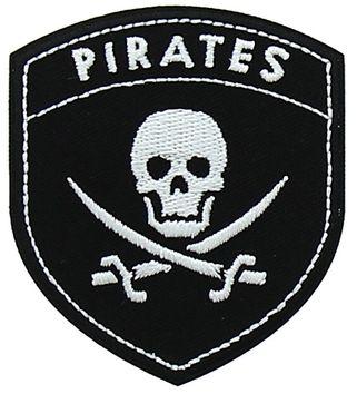 Motif blason pirates noir et blanc
