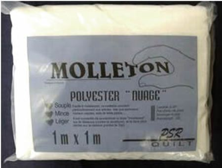 "Molleton polyester ""Nuage"" 100 x 100 cm"