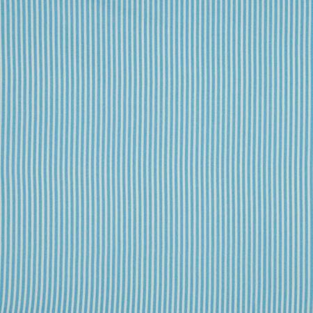 Tissus coton rayures - Bleu ciel et blanc