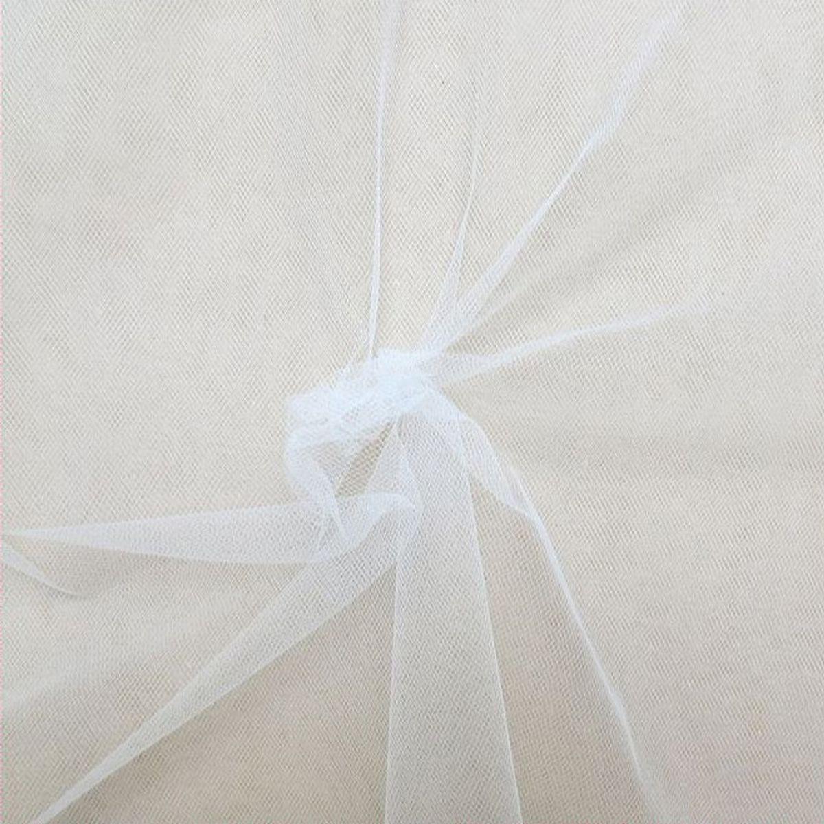 Tulle souple grande largeur - Blanc