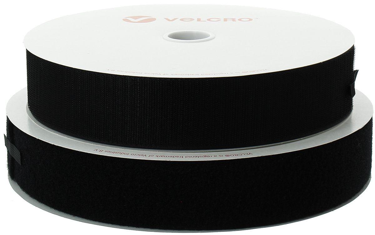 VELCRO® Brand adhésif noir 50 mm de large rouleau de 25 mètres
