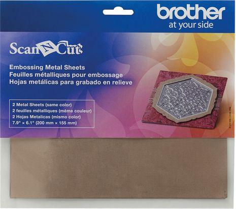 Feuilles métalliques cuivrées pour l´embossage ScanNCut