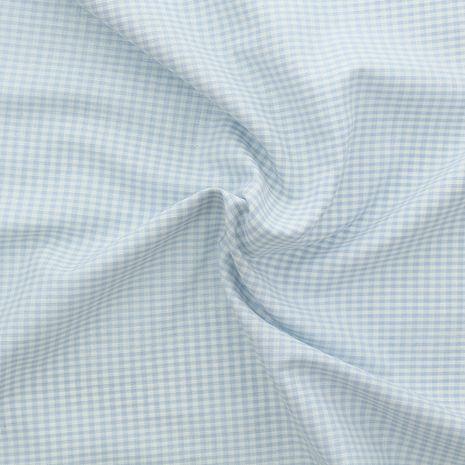 Tissu Vichy petits carreaux - Bleu clair