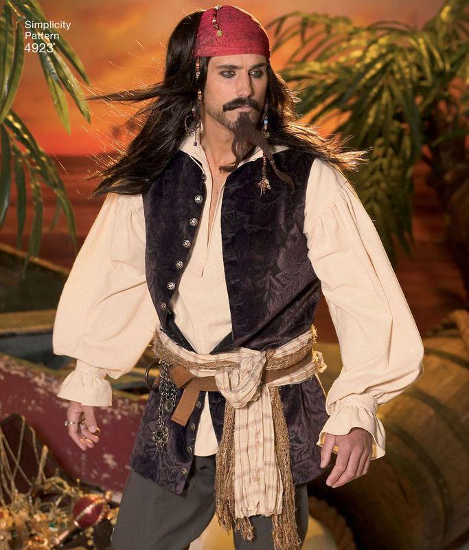 patron de costumes de pirates pour hommes simplicity. Black Bedroom Furniture Sets. Home Design Ideas